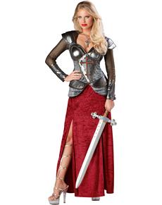 Kostuum Jeanne d'Arc voor vrouwen